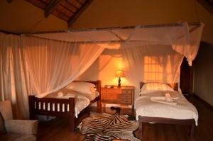 Chambre Bubye safari chasse Zimbabwe