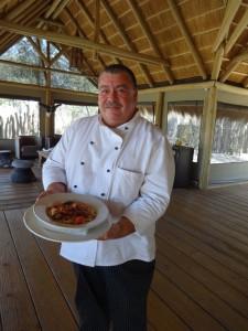 Chef cuisinier campement de chasse Namibie