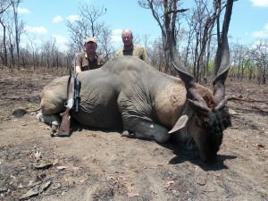Eland Jerome safari chasse Mozambique