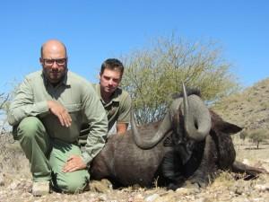 Gnou noir Ed safari chasse namibie