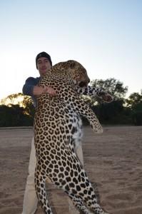 Leopard Jean safari chasse Zimbabwe