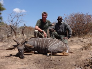 Petit koudou & Jerome LATRIVE safari chasse tanzanie