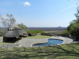 Piscine Lodge safari chasse zimbabwe