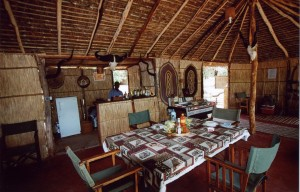 Salle a manger Matandu safari Tanzanie