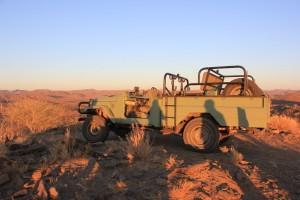 Toyota safari chasse namibie