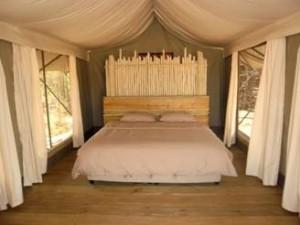 chambre campement safari chasse Namibie