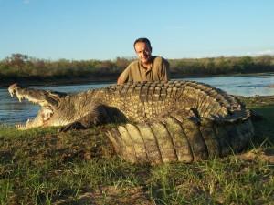 crocodile selous safari chasse tanzanie