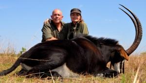 sable Ash safari chasse Mozambique