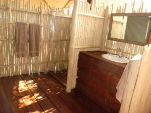 salle de bain safari chasse namibie