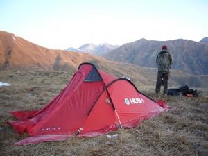 Camp volant Kirghizstan