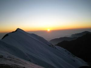 Coucher de soleil Azerbaidjan