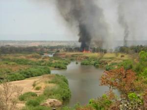Feu sur la Vina safari chasse Cameroun