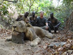 Lion 2013 Faro safari chasse Cameroun