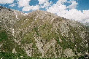 Montagne de Sheki Azerbaidjan