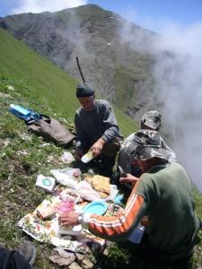 Pique Nique à 2600 m Azerbaidjan
