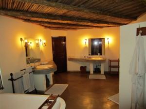 Salle de bain safari chasse zimbabwe