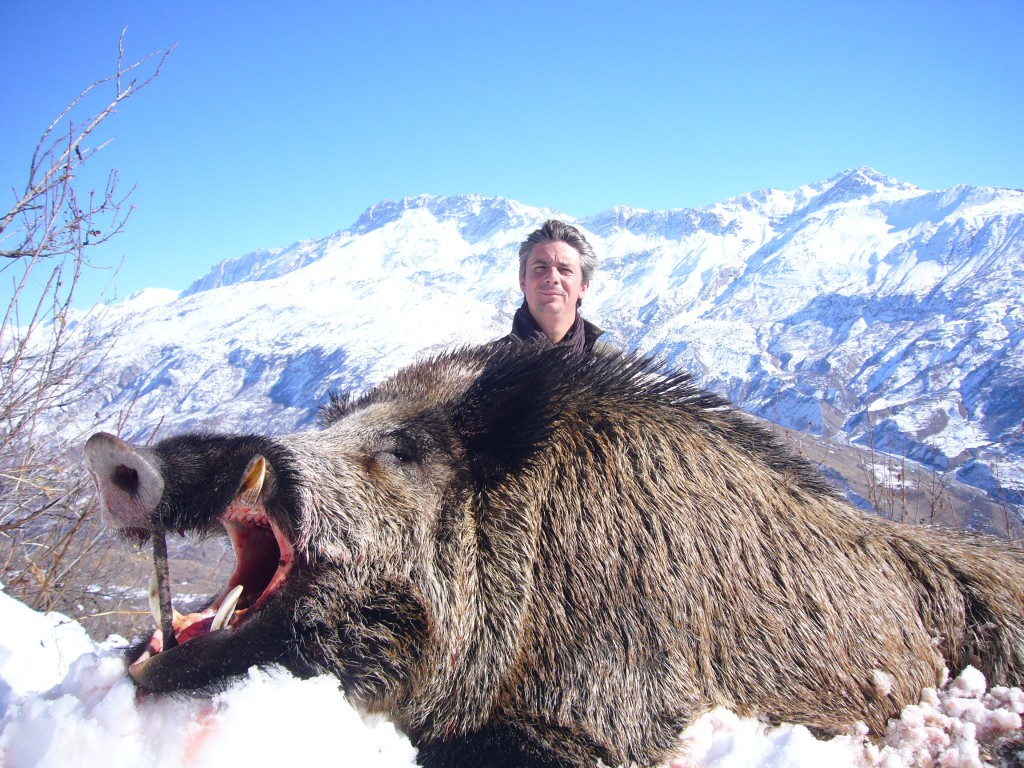 Sanglier et Jerome Latrive Tadjikistan