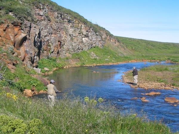 peche truite islande