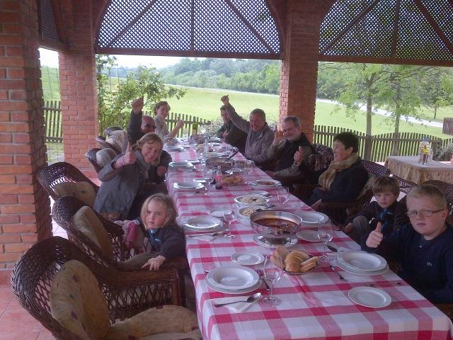 Dejeuner chasse aux brocards sejour Croatie